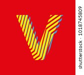 letter v  capital letter for... | Shutterstock .eps vector #1018745809