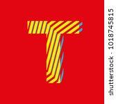 letter t  capital letter for... | Shutterstock .eps vector #1018745815