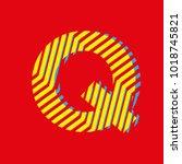 letter q  capital letter for... | Shutterstock .eps vector #1018745821