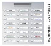 doorbells with common foreign...   Shutterstock .eps vector #1018748881