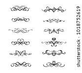 calligraphic border divider...   Shutterstock .eps vector #1018752619