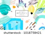 abstract universal art web... | Shutterstock .eps vector #1018758421