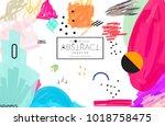 abstract universal art web... | Shutterstock .eps vector #1018758475