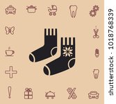 winter socks vector icon | Shutterstock .eps vector #1018768339