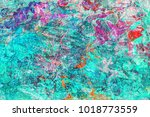 abstract hand drawn multi color ... | Shutterstock . vector #1018773559