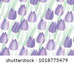 tulip spring floral design... | Shutterstock .eps vector #1018775479