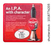 Small photo of LONDON, UK - FEBRUARY 04, 2018: Henry's original ale original beermat coaster isolated on white background