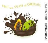 abstract illustration logo for... | Shutterstock . vector #1018783441