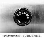 volume knob close up. | Shutterstock . vector #1018787011