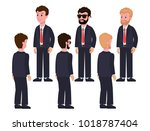 male characters in classic... | Shutterstock .eps vector #1018787404