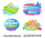 best offer spring big sale... | Shutterstock .eps vector #1018787449
