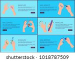 manicure and nail service  set... | Shutterstock .eps vector #1018787509