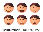 people faces vector designed in ... | Shutterstock .eps vector #1018788499