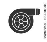 turbocharger glyph icon....   Shutterstock .eps vector #1018789201