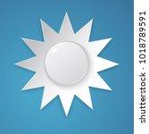 sun vector designed in paper... | Shutterstock .eps vector #1018789591