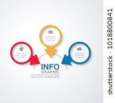 vector infographic template for ... | Shutterstock .eps vector #1018800841