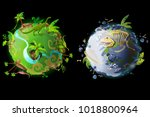 vector cartoon fantastic planet ...