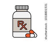 rx pill bottle color icon.... | Shutterstock .eps vector #1018801531