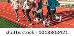a group of high school girls...   Shutterstock . vector #1018803421