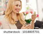 close up of a happy gorgeous... | Shutterstock . vector #1018805701