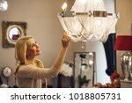 beautiful mature blond haired... | Shutterstock . vector #1018805731