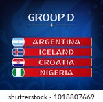 football championship groups.... | Shutterstock .eps vector #1018807669