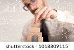 young handsome businessman...   Shutterstock . vector #1018809115