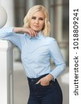 pretty stylish woman in...   Shutterstock . vector #1018809241