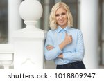 pretty stylish woman in... | Shutterstock . vector #1018809247