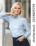 pretty stylish woman in...   Shutterstock . vector #1018809259