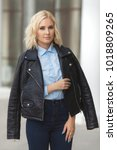 beautiful young stylish woman...   Shutterstock . vector #1018809265