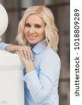pretty stylish woman in...   Shutterstock . vector #1018809289