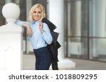 beautiful young stylish woman...   Shutterstock . vector #1018809295