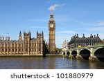 westminster bridge with big ben ... | Shutterstock . vector #101880979
