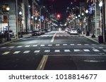 Downtown Bridgeport at night