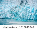 sawyer glacier in tracy arm... | Shutterstock . vector #1018815745