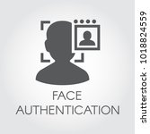 face authentication flat icon.... | Shutterstock .eps vector #1018824559