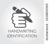 handwriting identification flat ...   Shutterstock .eps vector #1018824565