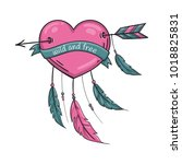 wild and free dreamcatcher... | Shutterstock .eps vector #1018825831