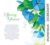 vector corner bouquet with... | Shutterstock .eps vector #1018826659