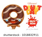 national donut day holiday ad... | Shutterstock .eps vector #1018832911