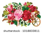 beautiful rose flower | Shutterstock .eps vector #1018833811