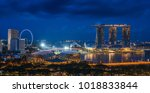Sityscape Of Singapore City On...