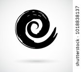 spiral symbol. hand painted... | Shutterstock .eps vector #1018838137