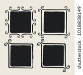 whimsical brush painted frames | Shutterstock .eps vector #1018838149
