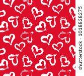 seamless heart pattern. hand... | Shutterstock .eps vector #1018838275