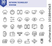network technology line icon set | Shutterstock .eps vector #1018844065