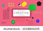 minimal universal banner...   Shutterstock .eps vector #1018844245