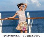 a gorgeous brunette woman...   Shutterstock . vector #1018853497