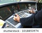 train driver. railroad engineer.   Shutterstock . vector #1018853974